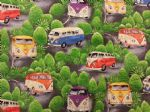 CAMPERVAN CLASSIC - Fabric 100% Cotton - Price Per Metre